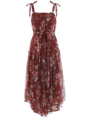 Zimmermann Unbridled Tie Waist Slip Dress