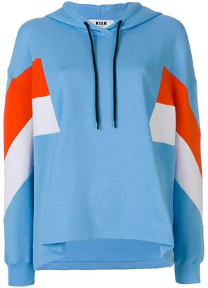 MSGM striped print hoodie