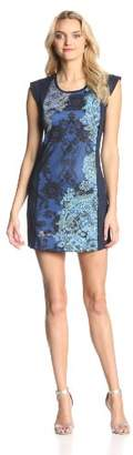 Desigual Women's Gapur Cap Sleeve Tunic Dress,Size (Brand Size: Medium)