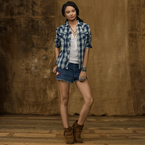 Denim & Supply Ralph Lauren Plaid Western Shirt