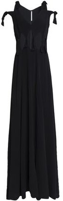 Rosetta Getty Woman Knotted Cutout Crepe Gown Black Size 0 Rosetta Getty N4hmhkuN
