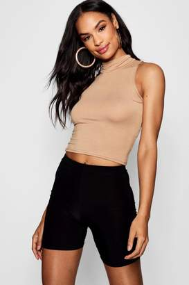 boohoo Tall High Neck Crop Top