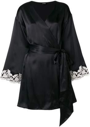 La Perla embroidered sleeves robe