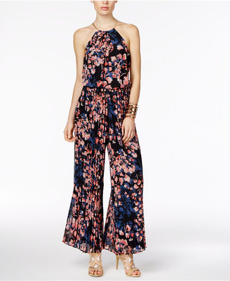 Thalia Sodi Floral-Print Halter Jumpsuit, Only at Macy's $119.50 thestylecure.com