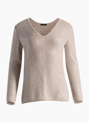 St. John Brielle Knit V-Neck Sweater