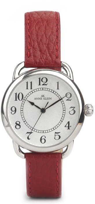 Red Leather Strap Watch