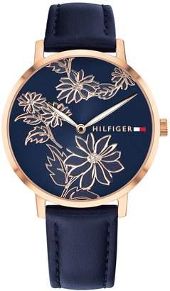 Tommy Hilfiger Rose Gold Floral Watch