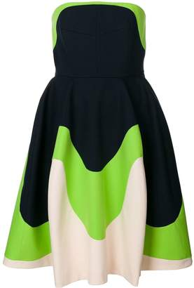 DELPOZO colour-block flared dress