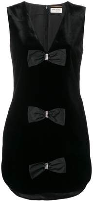 Saint Laurent V-neck bow dress