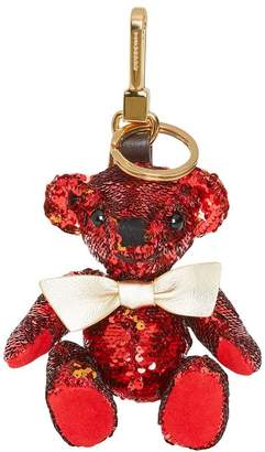 Burberry Thomas Bear Charm in Sequins and Leather