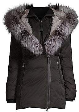 15278b014caa Womens Down Coat With Fur Trim Hood Mackage - ShopStyle