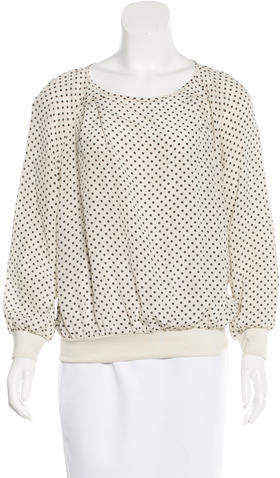Marc By Marc JacobsMarc by Marc Jacobs Geometric Print Long Sleeve Top