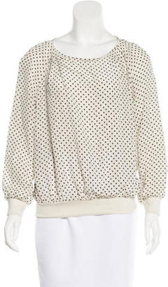 Marc by Marc Jacobs Geometric Print Long Sleeve Top $65 thestylecure.com