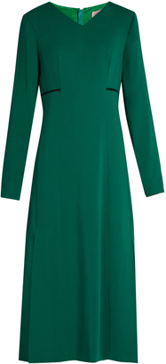 LANVIN V-neck long-sleeved cady gown $1,884 thestylecure.com