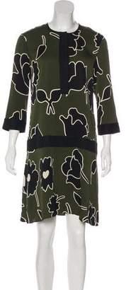 Diane Kordas Floral Silk Dress