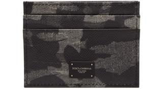 Dolce & Gabbana Camouflage-print leather card holder