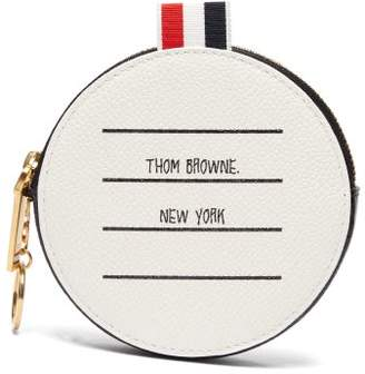 Thom Browne Address Label Pebbled Leather Coin Purse - Mens - Black