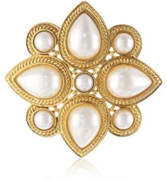 """Ben-Amun Jewelry """"Gold and Pearl"""" Brooch"""
