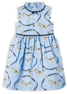 Janie and Jack Little Girl's& Girl's Horse Pattern Dress