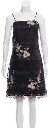 Nicole Miller Chinoiserie Embellished Dress