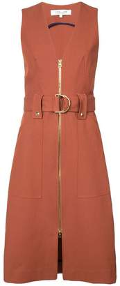 Diane von Furstenberg zip front belted dress