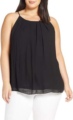 Vince Camuto Pleat Front Chiffon Top