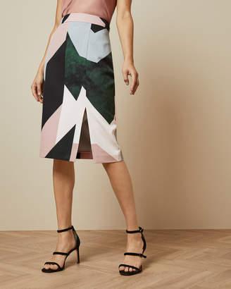 Ted Baker ROXANE Sapphire side split skirt