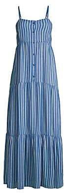 Splendid Women's Promenade Striped Maxi Dress