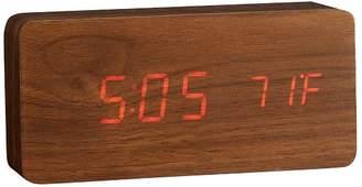 Pottery Barn Teen Faux-Wood Alarm Clock, Walnut