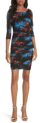 Diane von Furstenberg Ruched Floral Dress