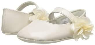 Baby Deer Soft Sole Ballet with Side Flower Girl's Shoes