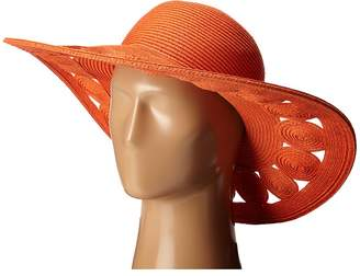 San Diego Hat Company UBL6481 Ultrabraid Sun Brim Hat with Open Weave Circular Details Caps