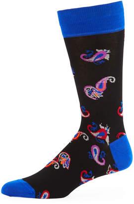 Bugatchi Men's Paisley Jacquard Socks