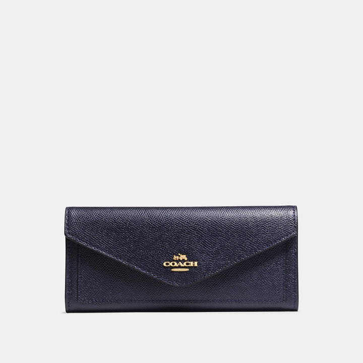 Coach   COACH Coach Soft Wallet In Crossgrain Leather