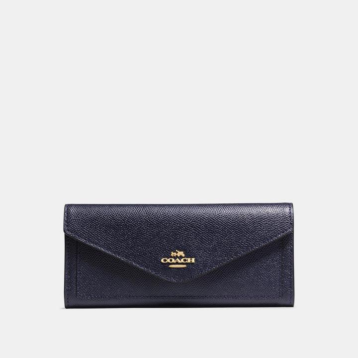 Coach  COACH Coach Soft Wallet In Crossgrain Leather