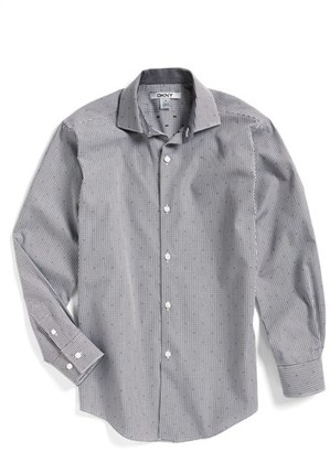 Boy's Dkny Dobby Check Dress Shirt $57 thestylecure.com