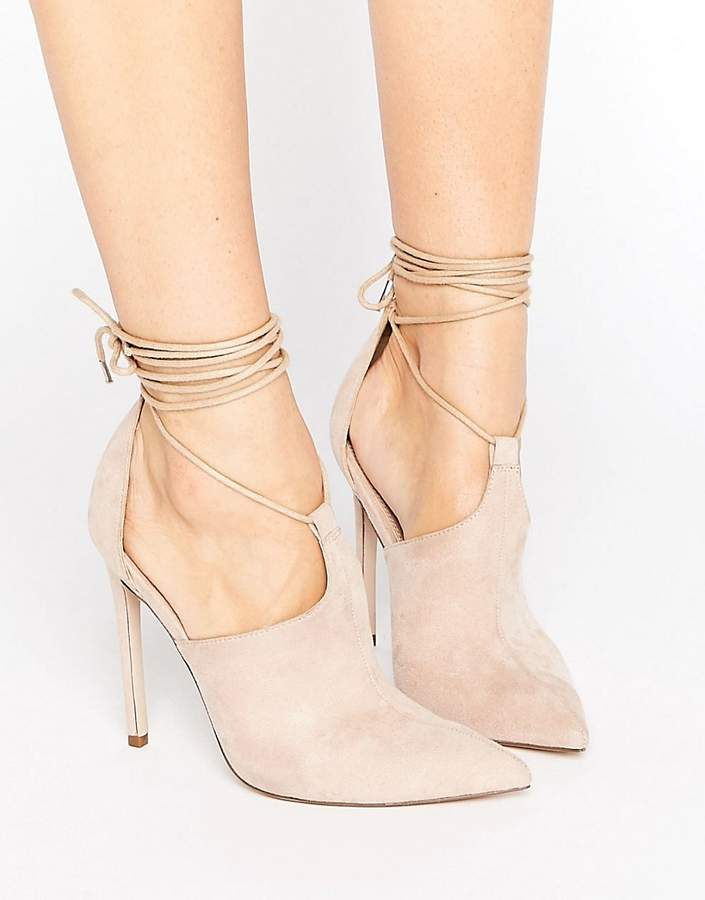 AsosASOS PANDEMONIUM Lace Up Pointed Heels