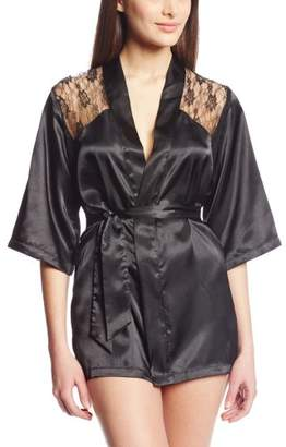 Dreamgirl Women's Lace Intrigue Sexy Kimono Robe