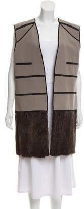 Marni Wool and Muskrat Blend Vest