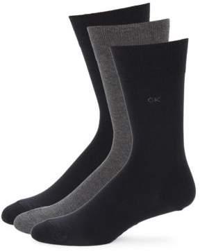 Calvin Klein Three-Pack Knit Socks