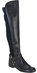 As Is Franco Sarto Leather Tall Shaft Boots with Buckles - Mast $59 thestylecure.com