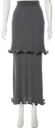 Stella McCartney Virgin Wool Maxi Skirt