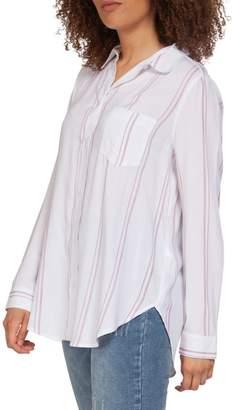 Dex Striped Long-Sleeve Button-Down Shirt