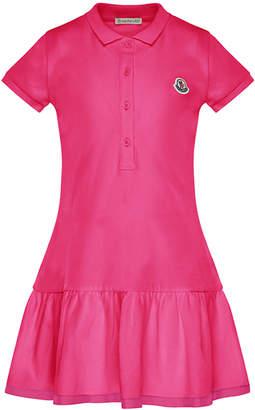 Moncler Short-Sleeve Polo Dress, Size 8-14
