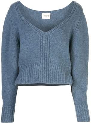 KHAITE Charlette V Neck Cashmere Sweater