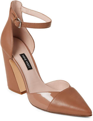 b6038dfff79 Nine West Wheat Hartley Ankle Strap Leather Pumps