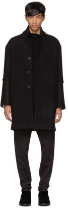 Isabel Benenato Black Oversized Wool Coat