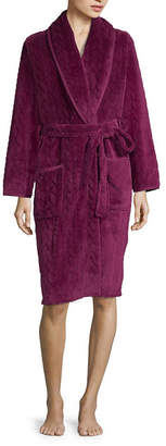 Free Shipping  99+ at JCPenney · Spencer Womens Fleece Robe Long Sleeve Mid  Length b30d5a8fd