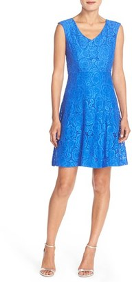 Women's Ellen Tracy Lace Fit & Flare Dress $128 thestylecure.com