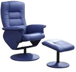 ACME Furniture ACME Arche 2-Piece Pack Recliner & Ottoman, Black PU